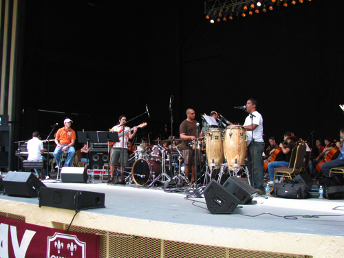 Rehearsing Rumba Sinfonica at the Festival of the Arts Boca, March 2008