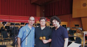 Lorenz, Harrison and CYSO Musical Director Allen Tinkham following the dress rehearsal of Pataruco.